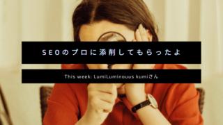 luminous wordpressブログ添削